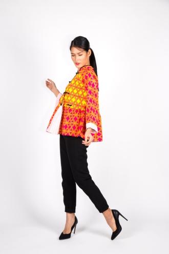 Pink Yellow Asian Jacket